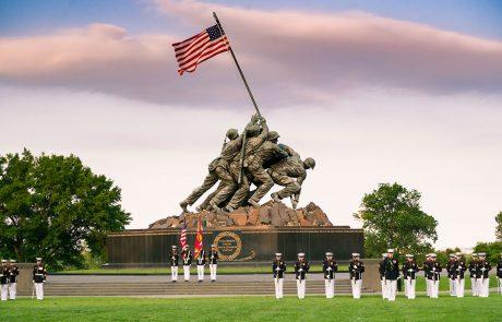 Marine Corps Sunset Parade Iwo Jima Memorial
