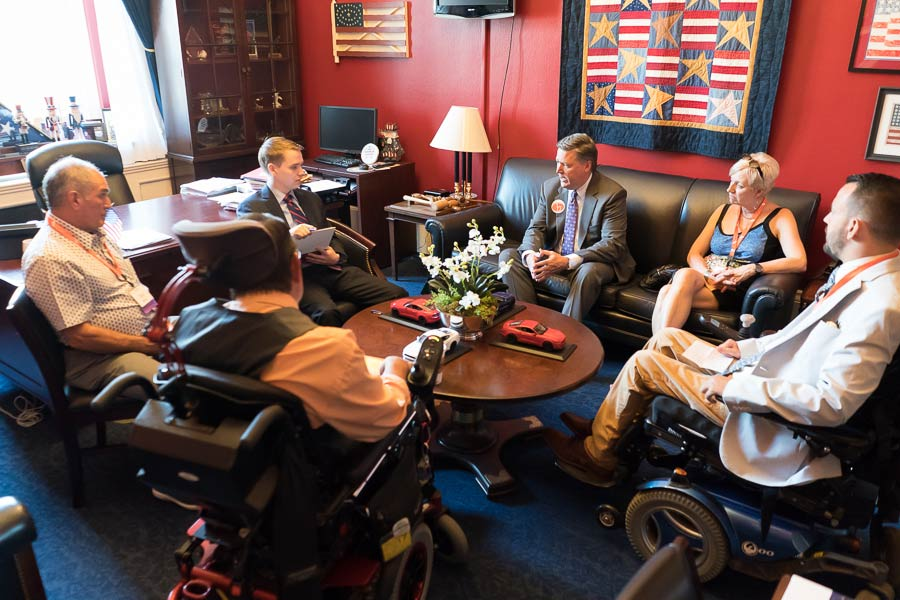 Advocacy Day Photography for ROCH - United Spinal Network