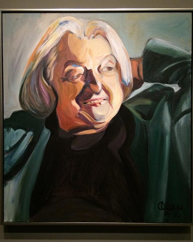 Portrait Betty Friedan. International Womens Day 2018 Washington Dc