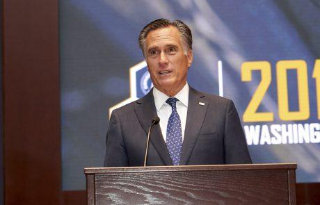 Mitt Romney speaking at Congressional Awards Ceremony. Event Photography Washington DC