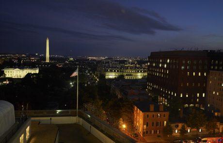 Washington DC at night. Washington Monument