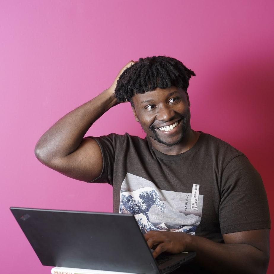 Modern headshots African american male